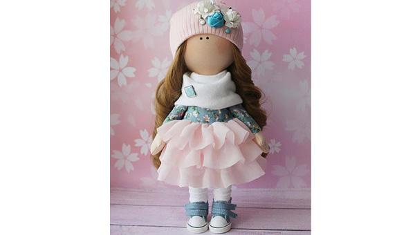 عروسک بزرگ دخترانه نمدی