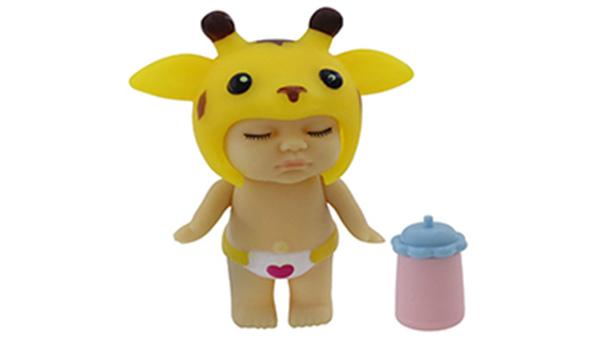 عروسک طرح نوزاد کلاه زرافه ای اسباب بازی دخترانه عروسک
